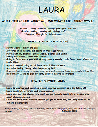 Laura's one-page profile