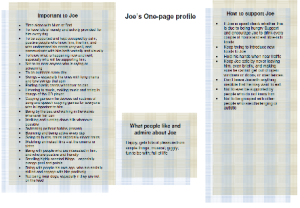 Joe's one-page profile