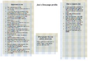 Joe's one-page profile