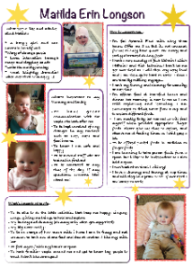 Matilda's one-page profile