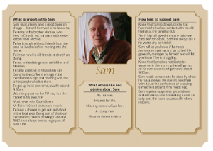 Sam's one-page profile