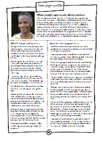 Sandra's one-page profile