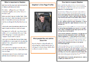 Stephen's one-page profile