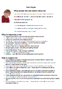 Alex's one-page profile