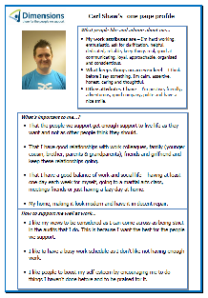 Carl's one-page profile