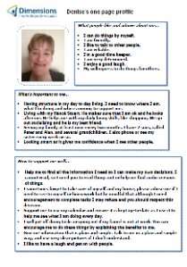 Denise's one-page profile