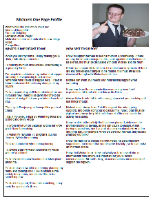 Michael's one-page profile