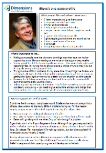 Steve's one-page profile