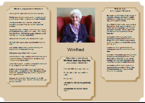 Winifred's one-page profile