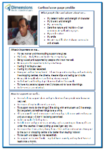Carlton's one-page profile