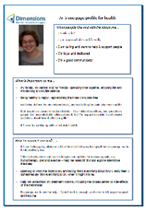 Jo Greenbank's one-page profile