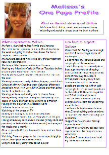 Melissa's one-page profile
