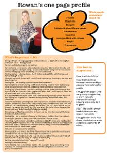 Rowan's one-page profile