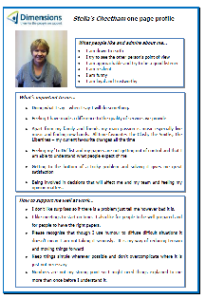Stella's one-page profile