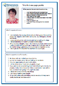 Trina's one-page profile
