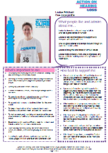 Louise's one-page profile