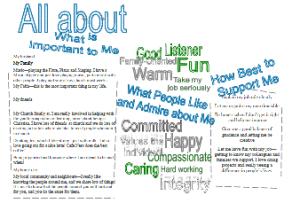 Rebecca's one-page profile